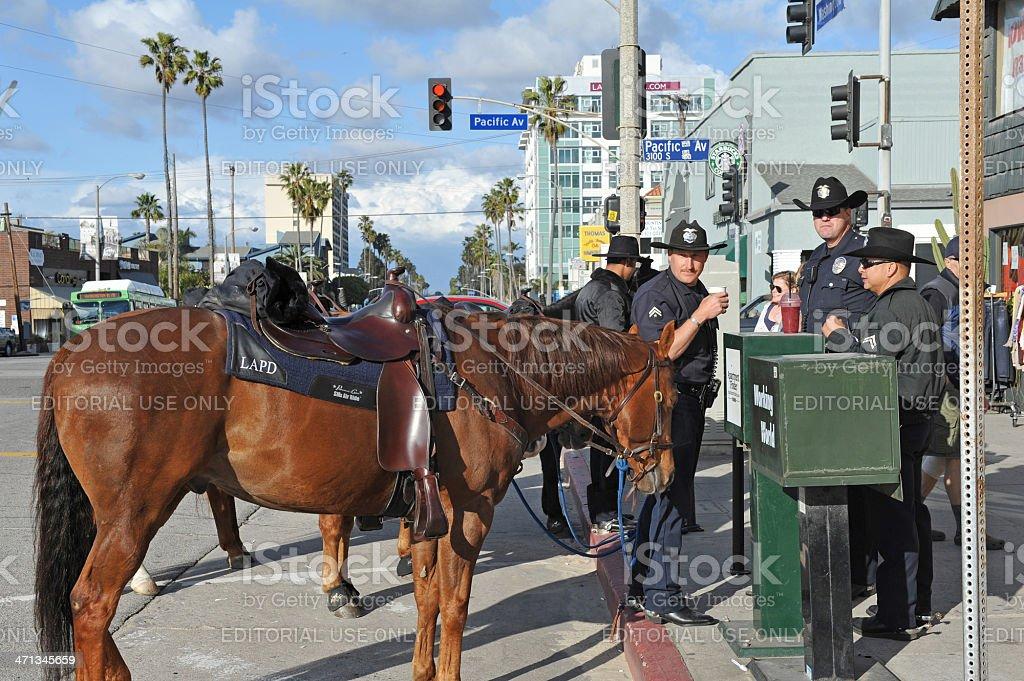 Mounted LAPD stock photo
