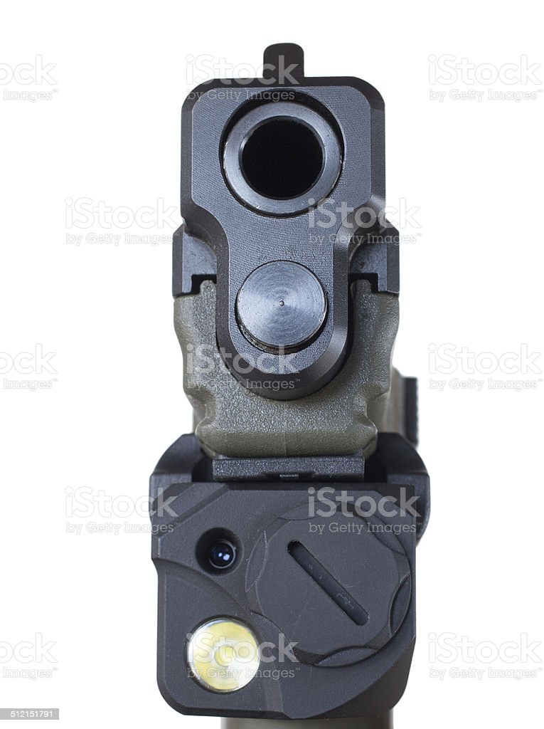 Mounted laser and light stock photo