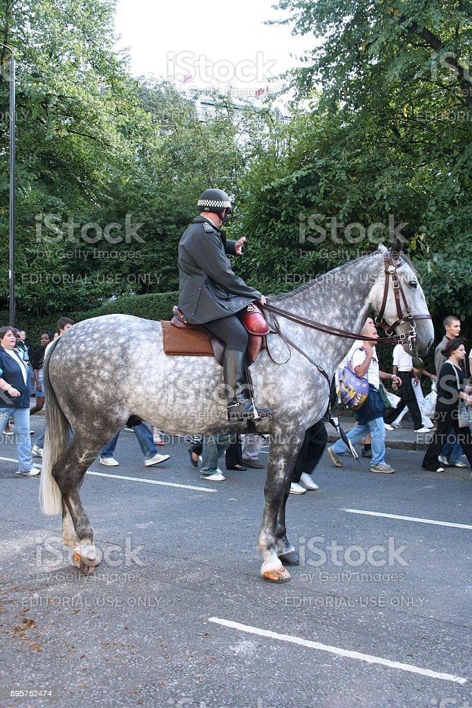 Mounted Metropolitan Police Officer stock photo