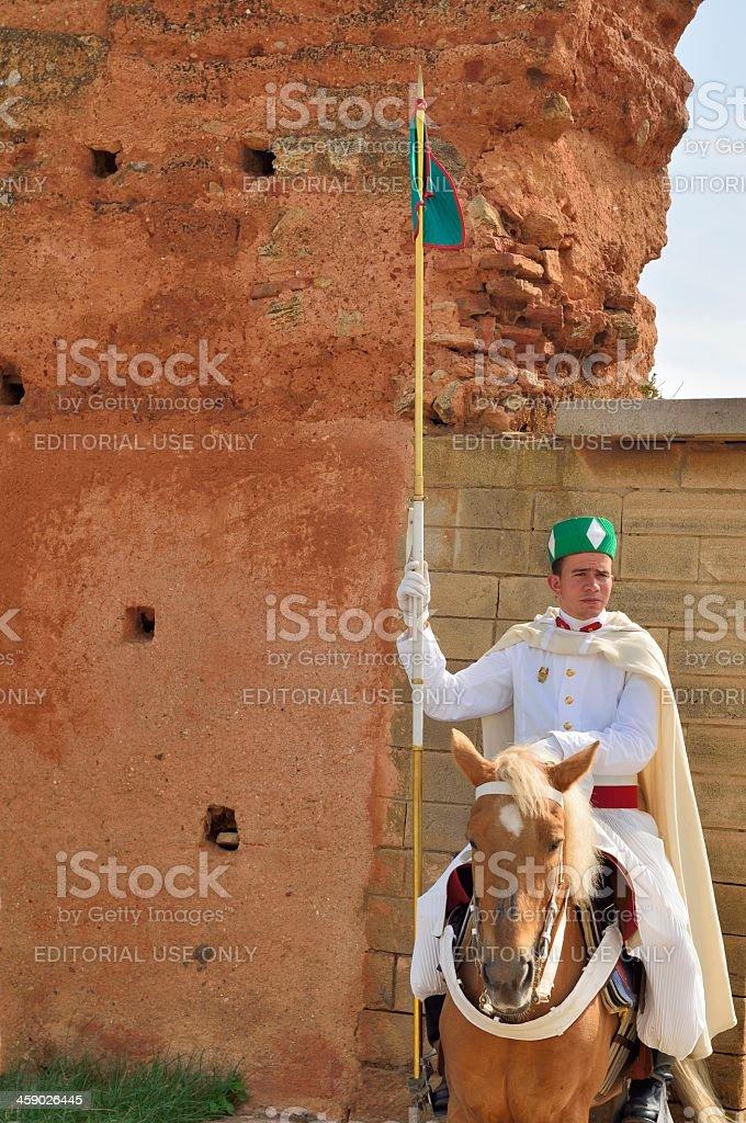 Mounted Moroccan Guard stock photo