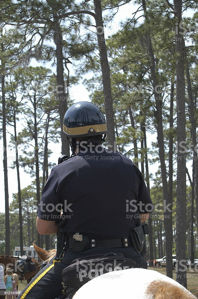 Mounted officer. stock photo