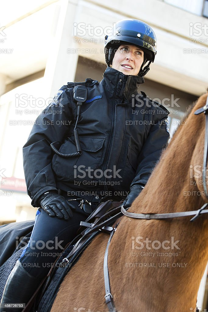 Mounted Patrol Unit Officer stock photo