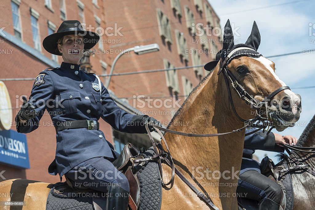 Mounted Police Officer stock photo