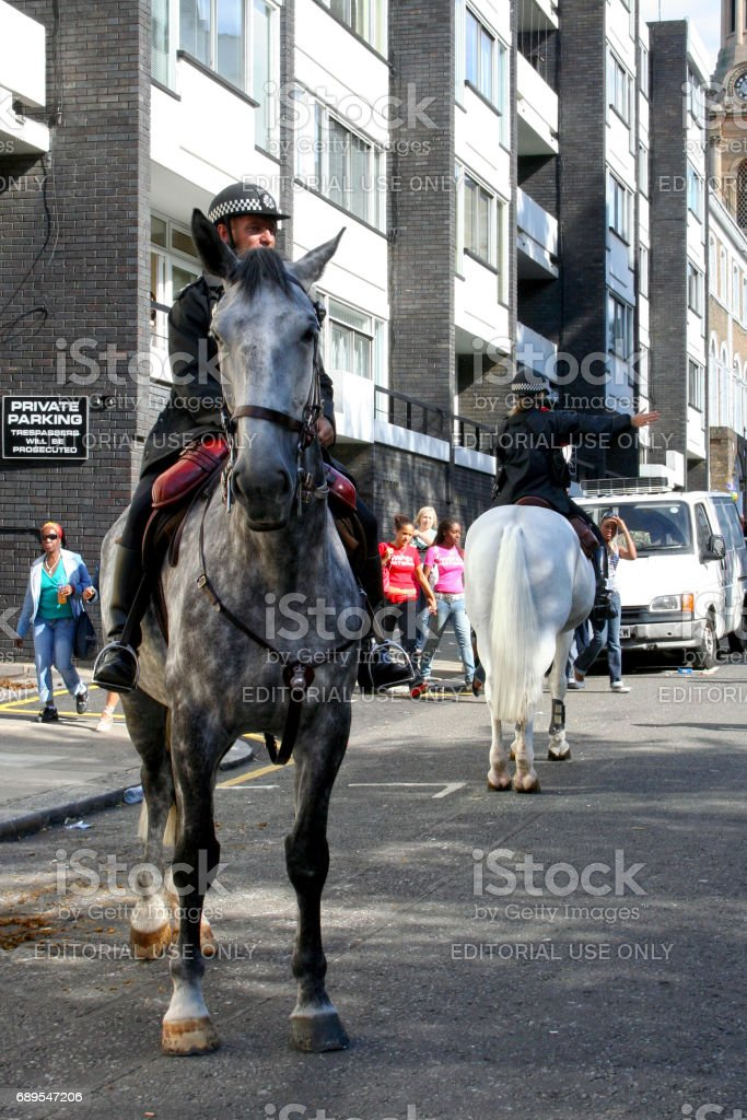 Mounted police officers of the Met stock photo
