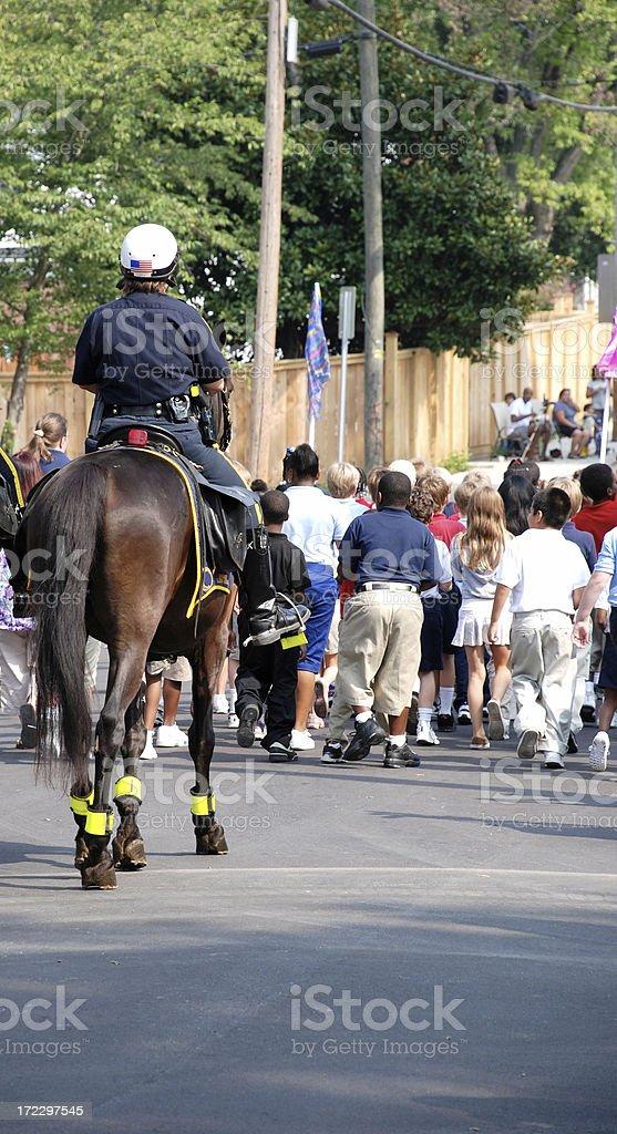 Mounted Police Patrol royalty-free stock photo