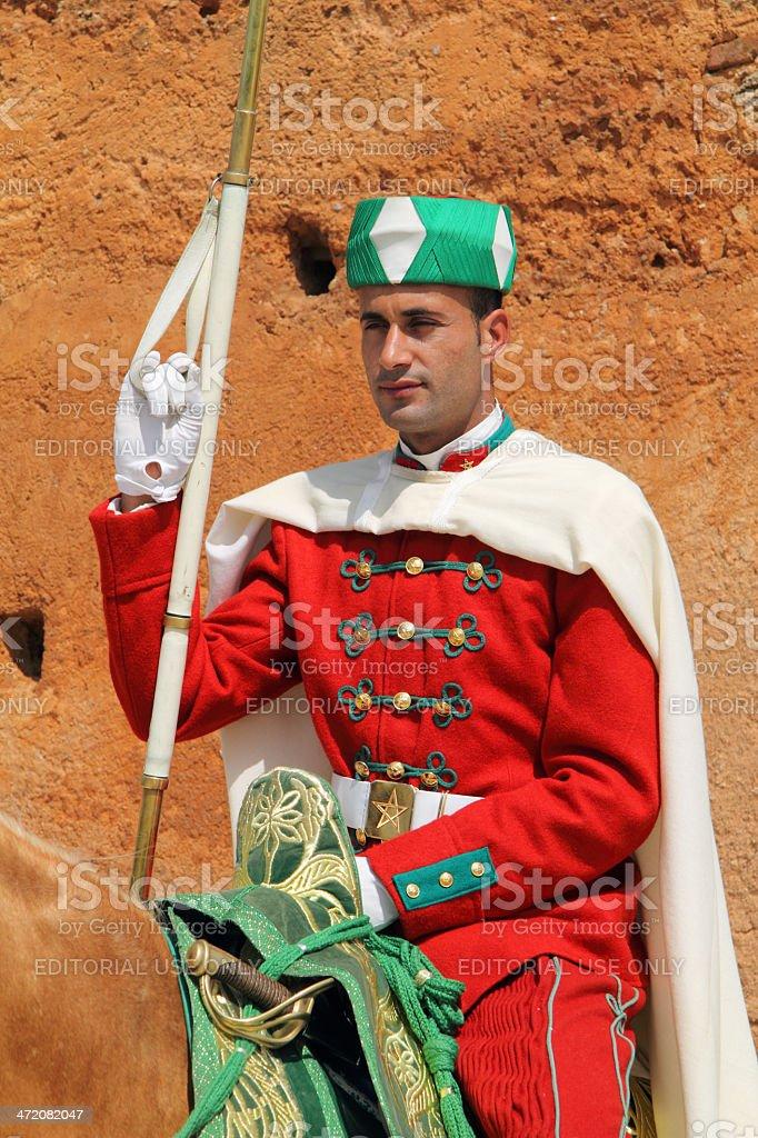 Mounted Royal Guard, Rabat, Morocco royalty-free stock photo