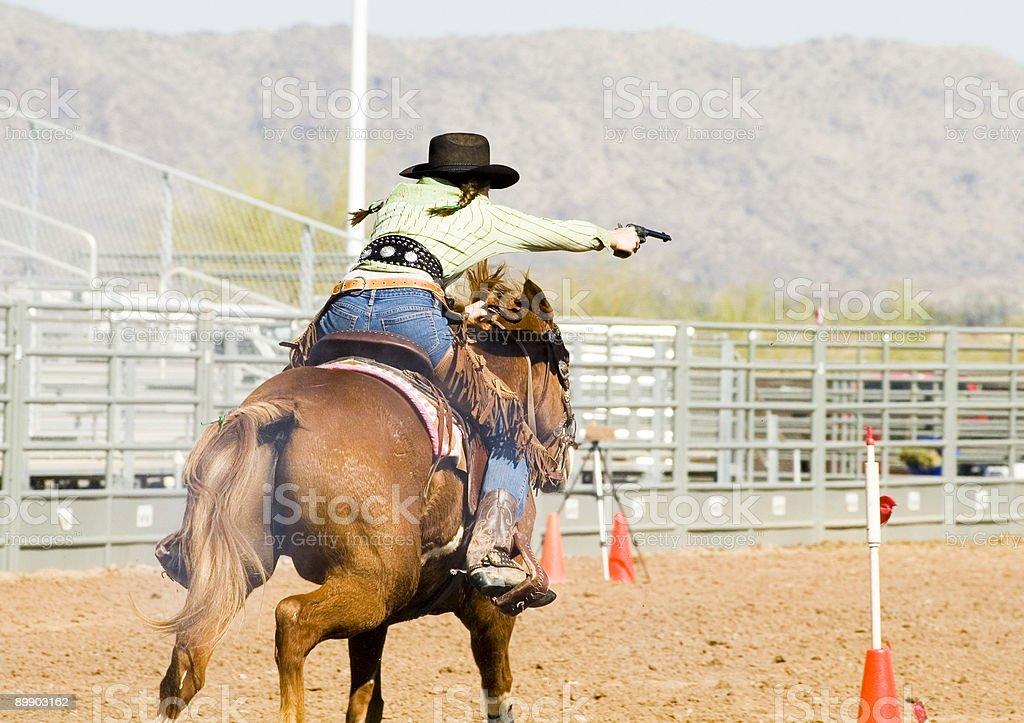 mounted shooting 2 royalty-free stock photo