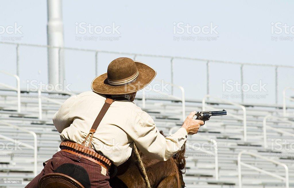 mounted shooting 4 royalty-free stock photo