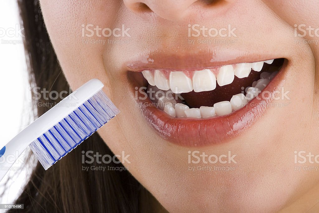 Mounth and toothbrush  3 royalty-free stock photo