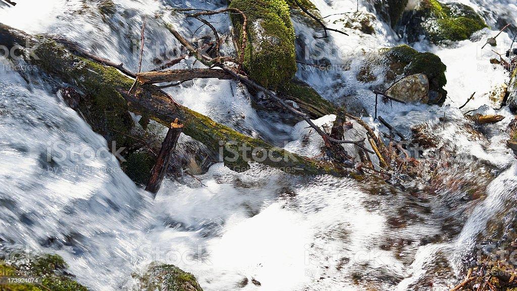 Mountian stream fresh water stock photo