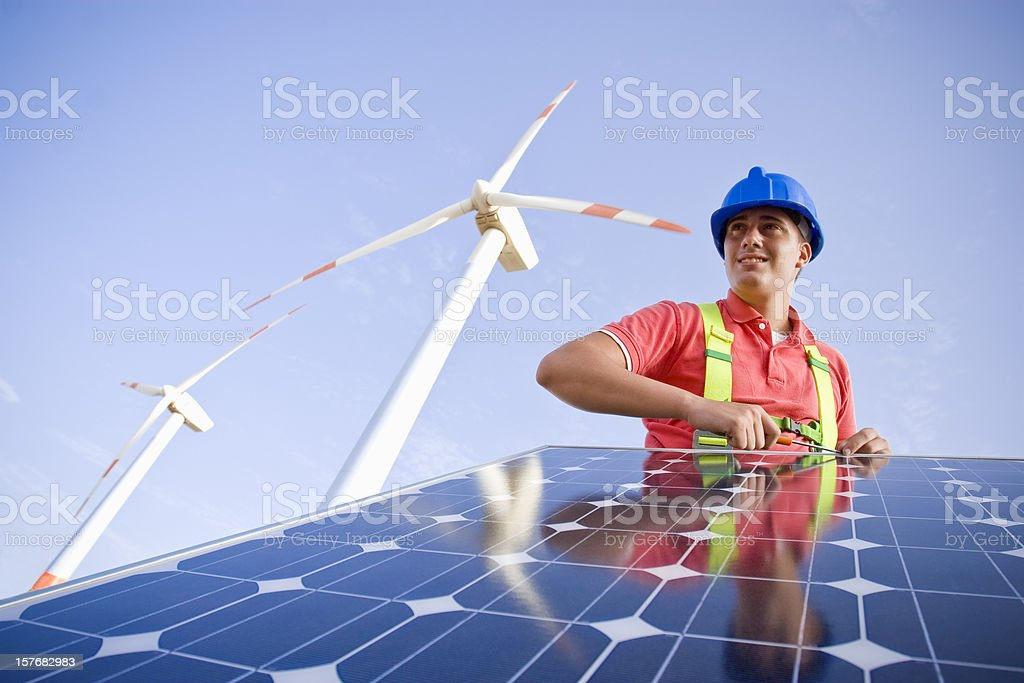 mounting a frame royalty-free stock photo