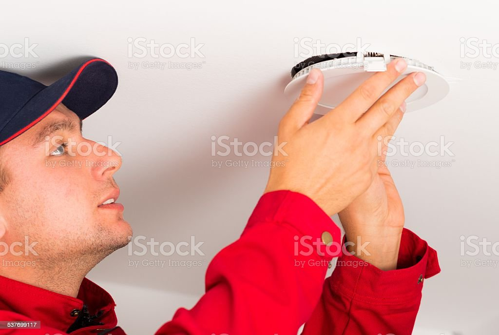 Mounting Led Ceiling Lamp stock photo