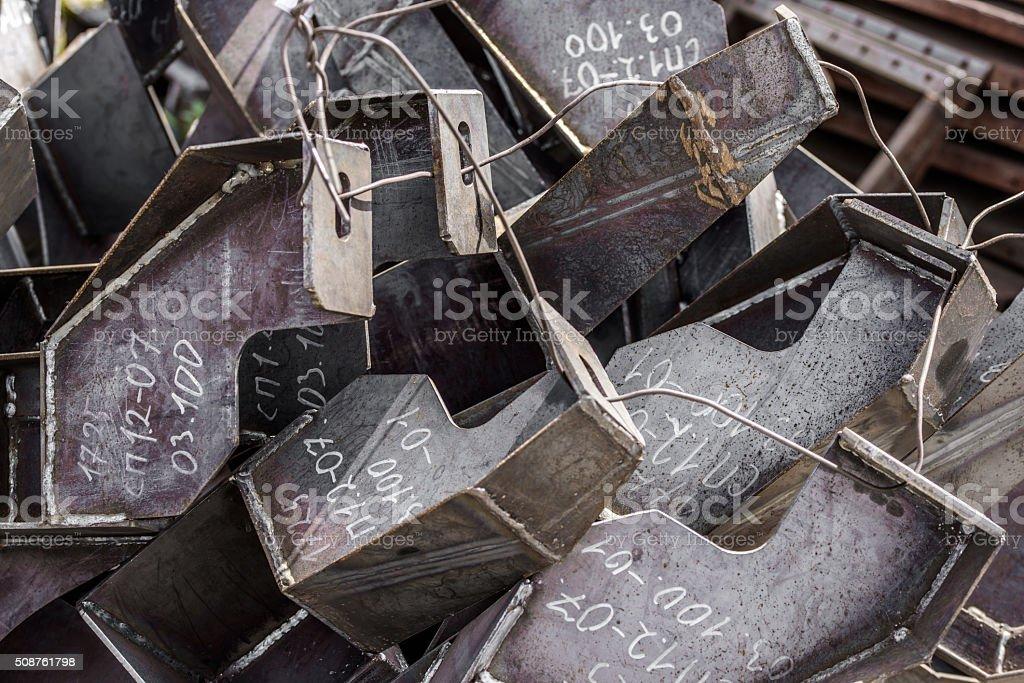 Mounting metal brackets stock photo