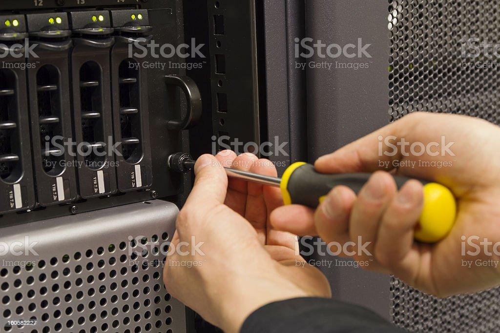 Mounting Rack Unit stock photo