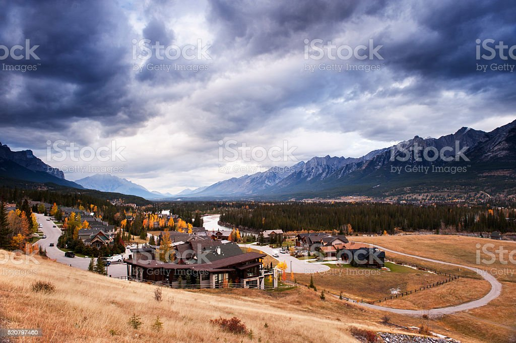 Mountion Village stock photo