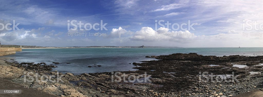 Mounts Bay Panorama II royalty-free stock photo