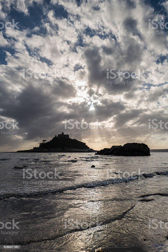 Mount's Bay. stock photo
