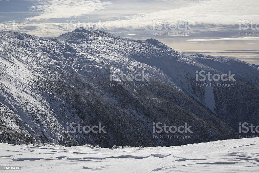 'Mounts Monroe, Franklin and Eisenhower viewed across the Ammonoo' stock photo