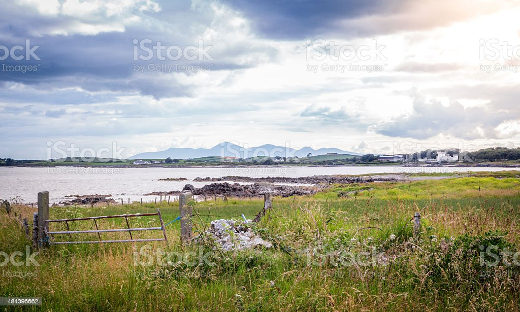 Mourne Mountains seen from Kearney Point stock photo