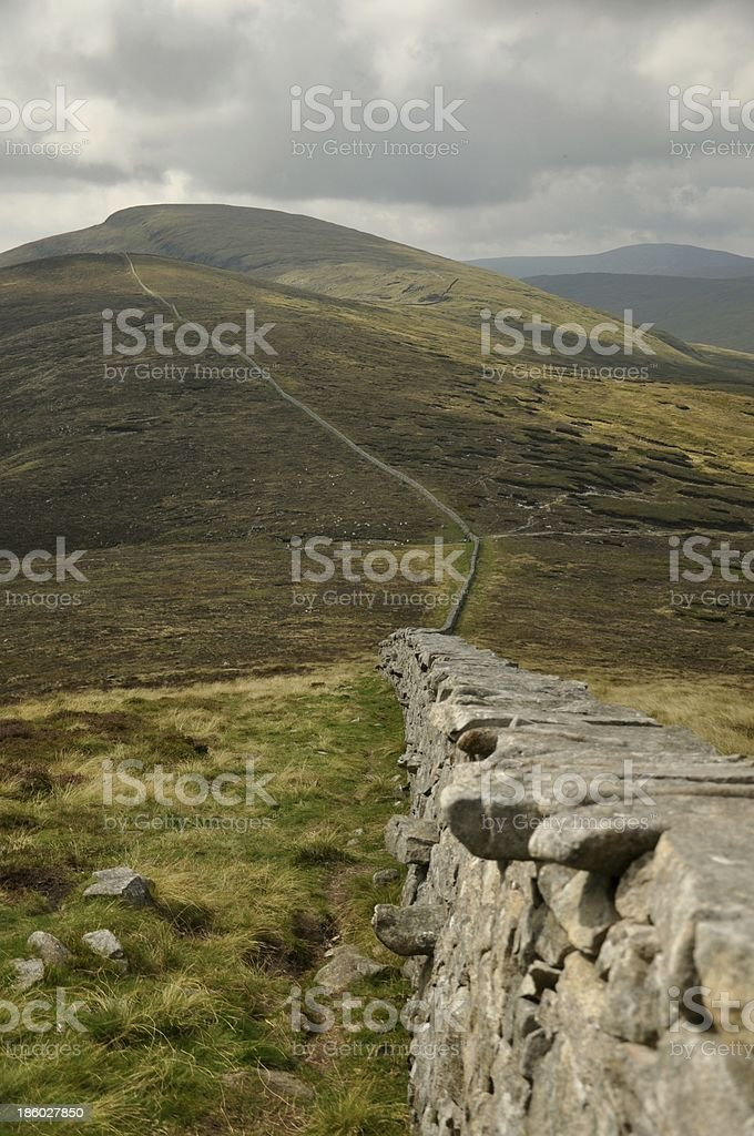 Mourne Wall stock photo