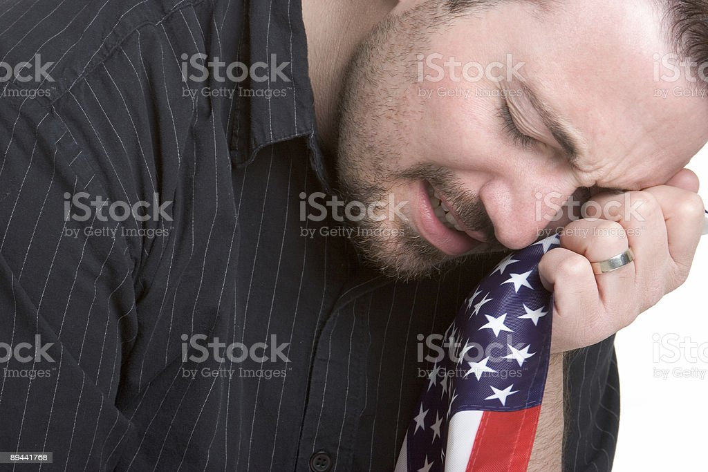 Mourning American royalty-free stock photo