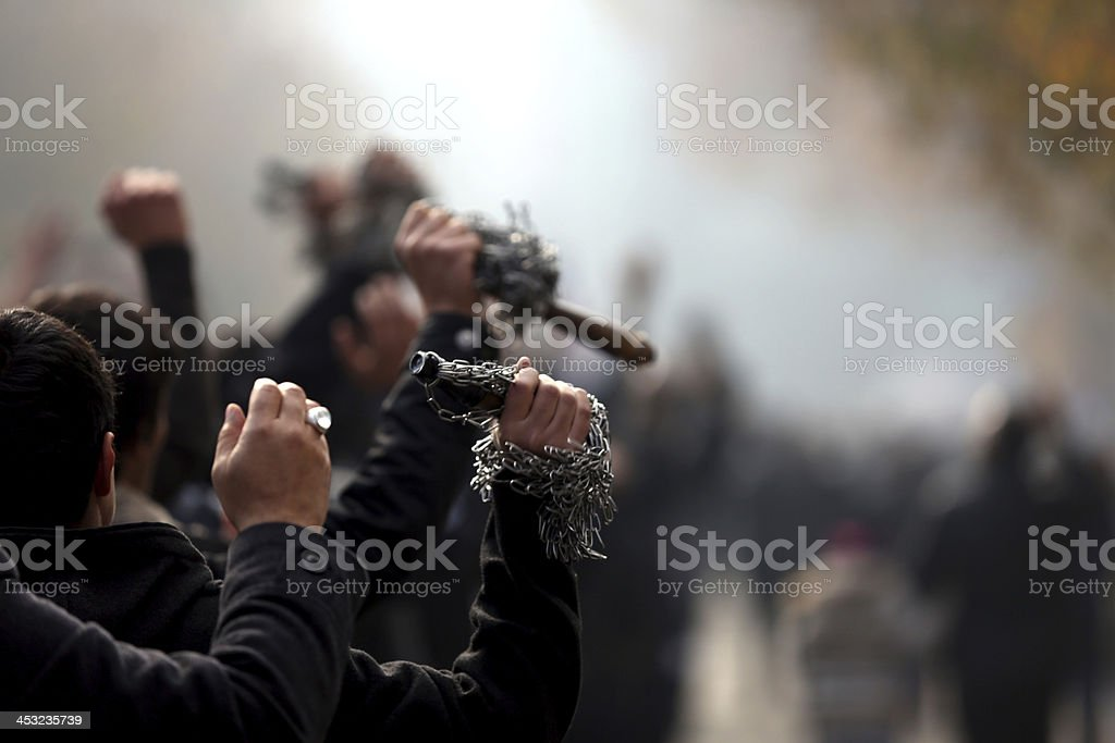 Mourning Day for Muslims stock photo