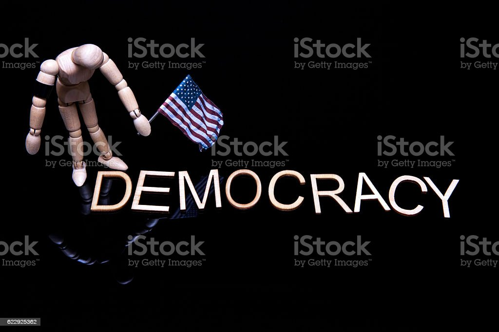 Mourning Democracy stock photo