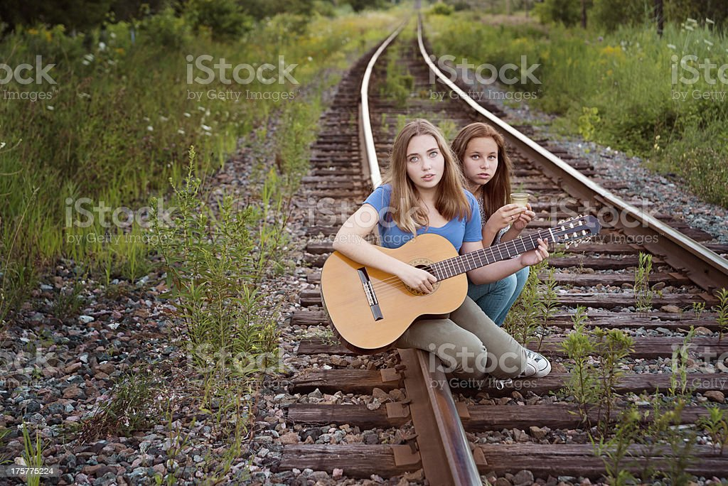 Mourning for the victims of railroad negligence. royalty-free stock photo