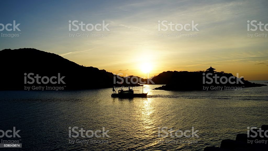 Mourning in Inland sea of Seto stock photo