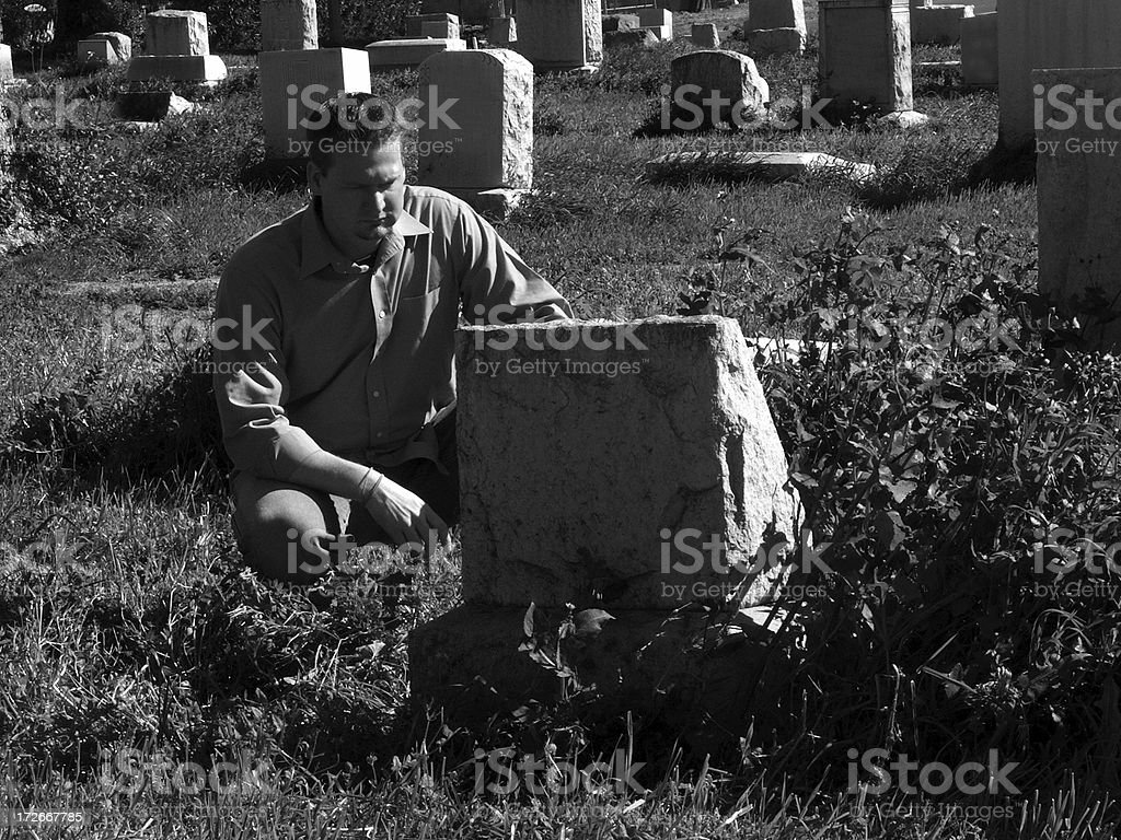 Mourning (Black and White) royalty-free stock photo
