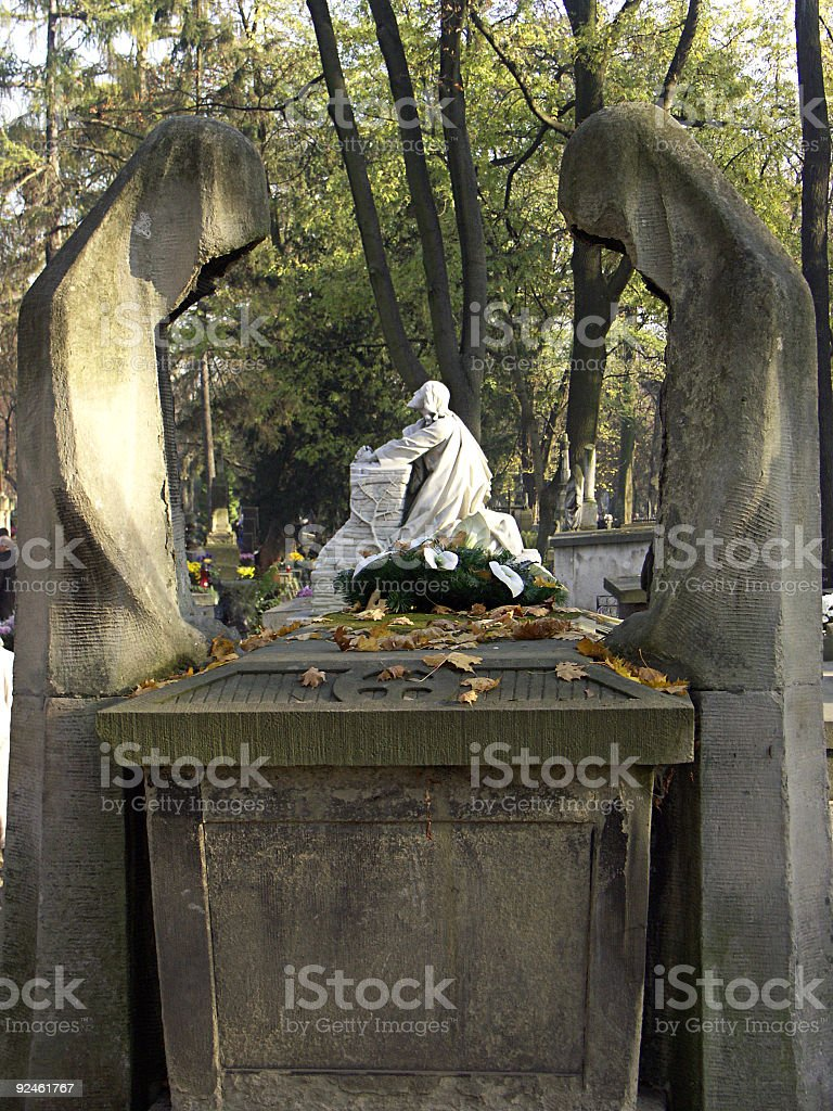 Mourning statues royalty-free stock photo