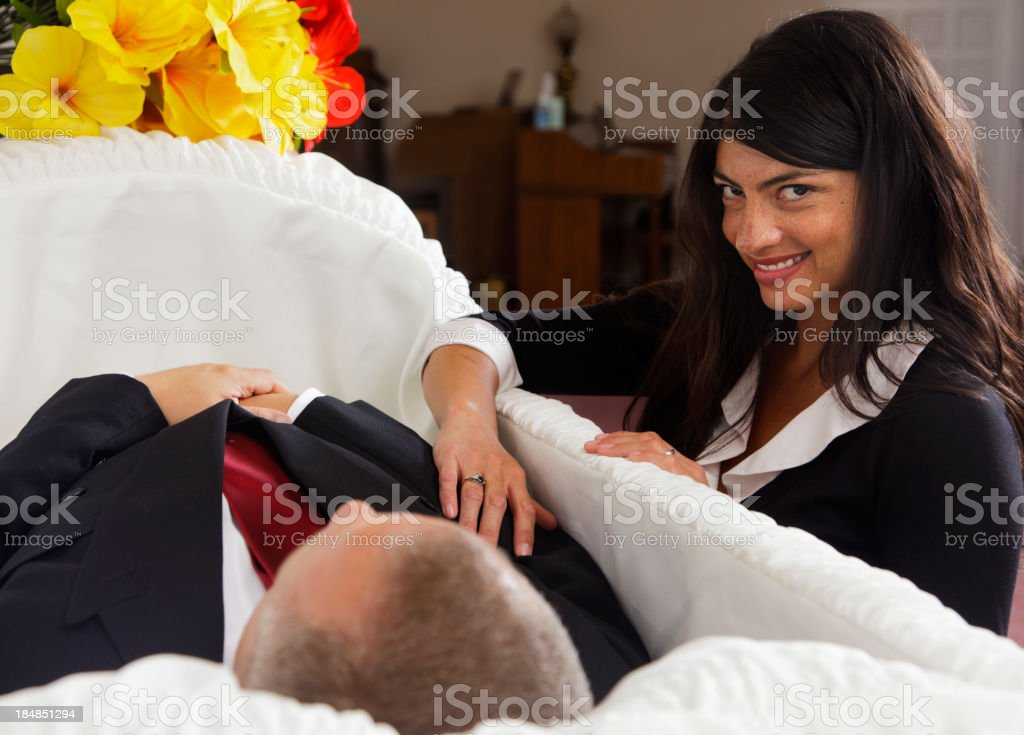 Mourning Woman stock photo