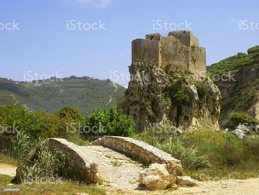 Mousayliha Castle, Lebanon stock photo