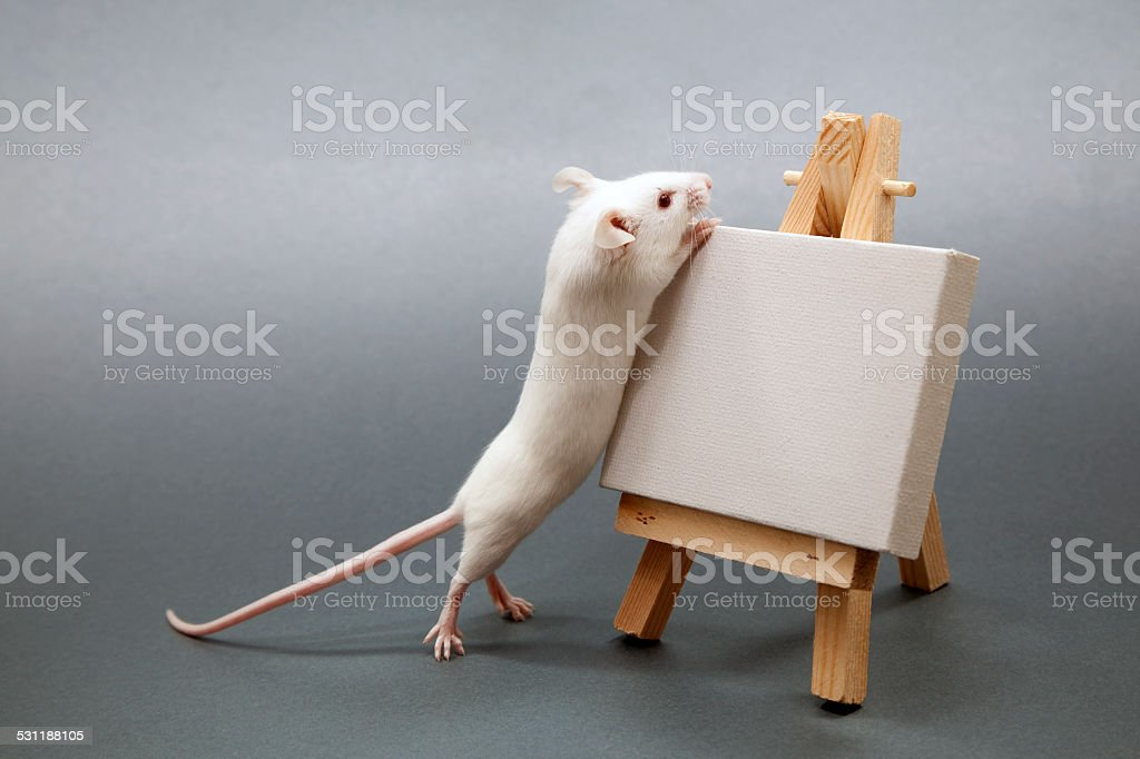 Mouse Artist stock photo