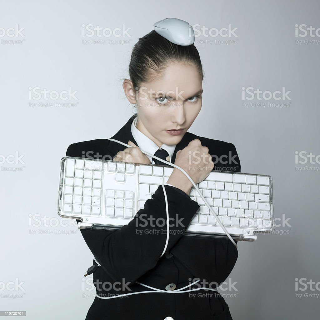 mouse attack computer problem royalty-free stock photo