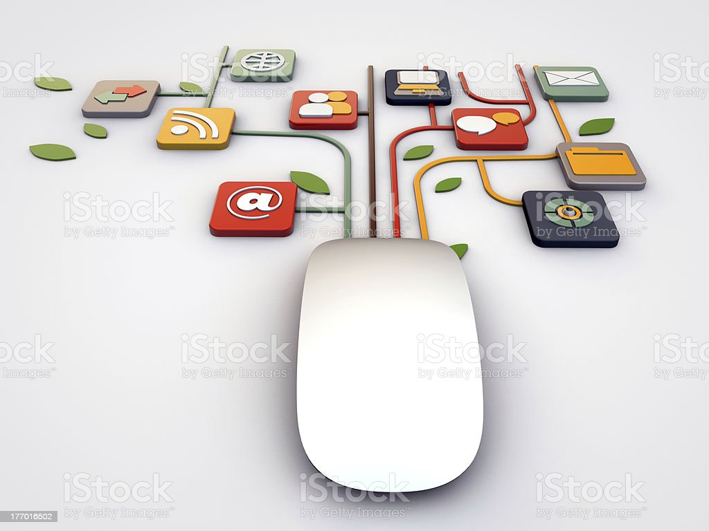 mouse connections stock photo