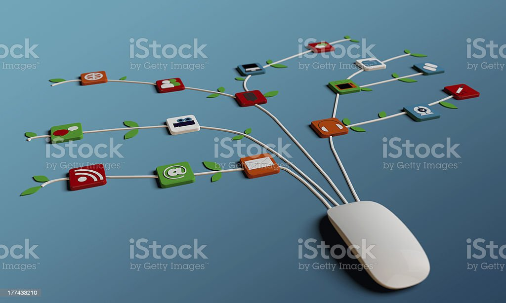 mouse connections royalty-free stock photo