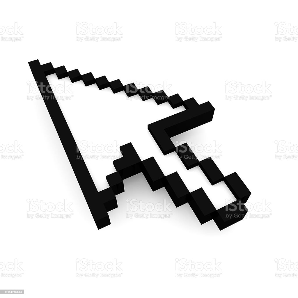 Mouse cursor with clipping path stock photo