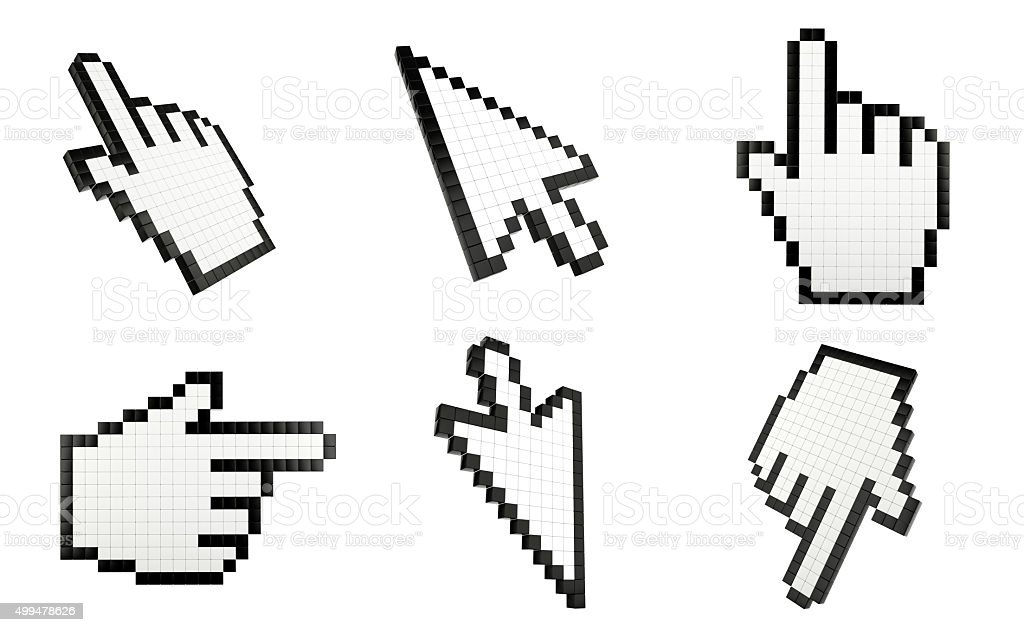 Mouse cursors stock photo