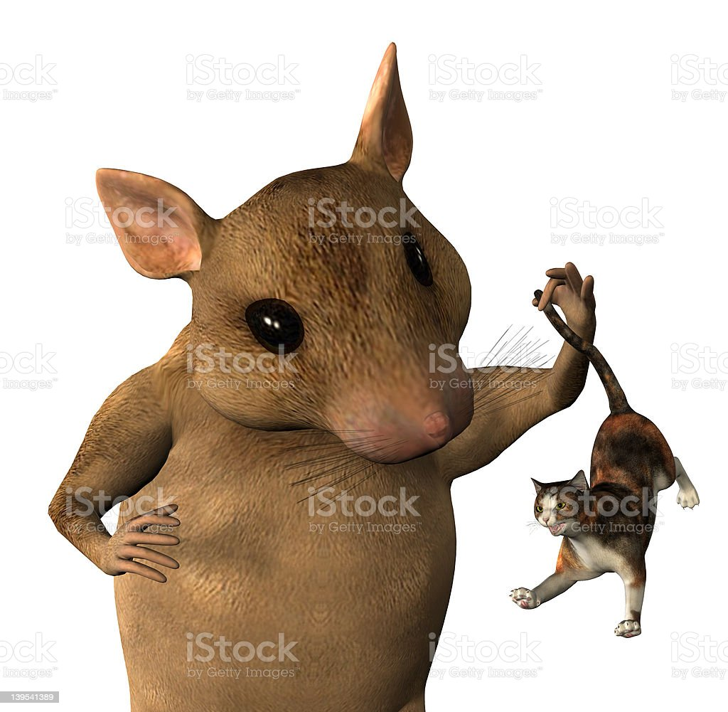 Mouse Fantasy - close cropped includes clipping path stock photo