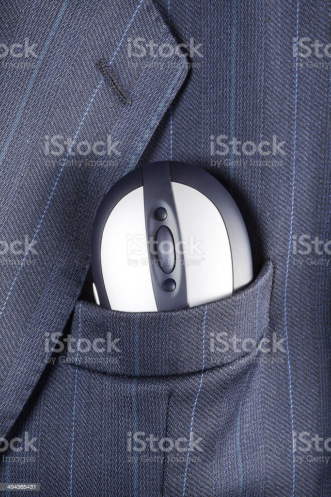Mouse in suit pocket royalty-free stock photo