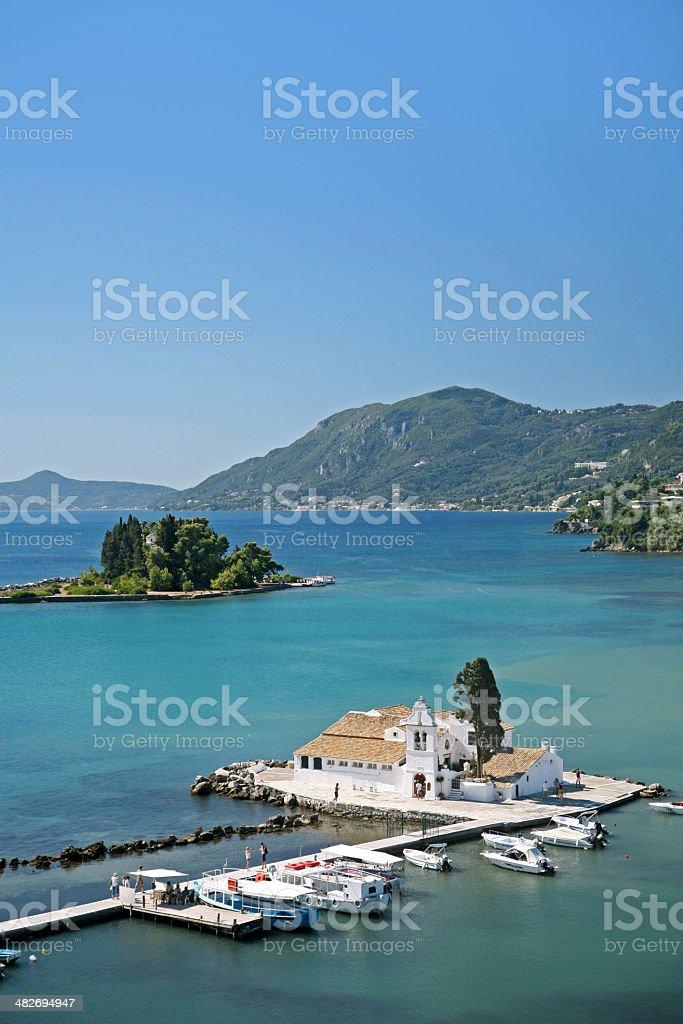 Mouse Island, Corfu stock photo