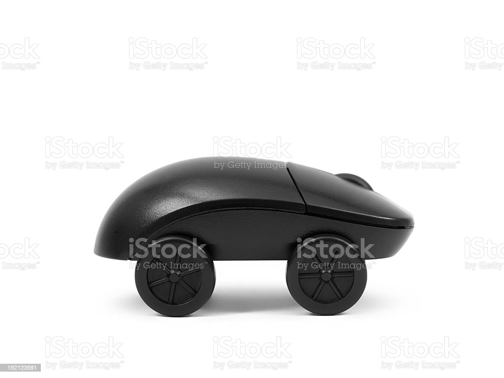 mouse on wheels stock photo