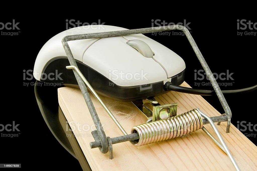 Maus Falle Computer-Maus Lizenzfreies stock-foto