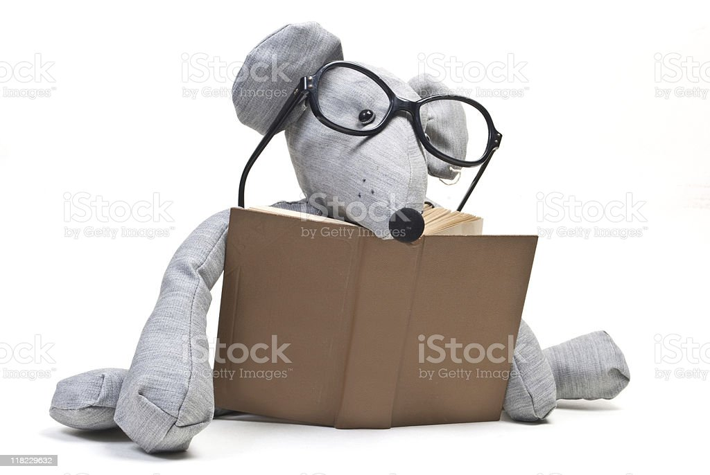 mouse with glasses royalty-free stock photo