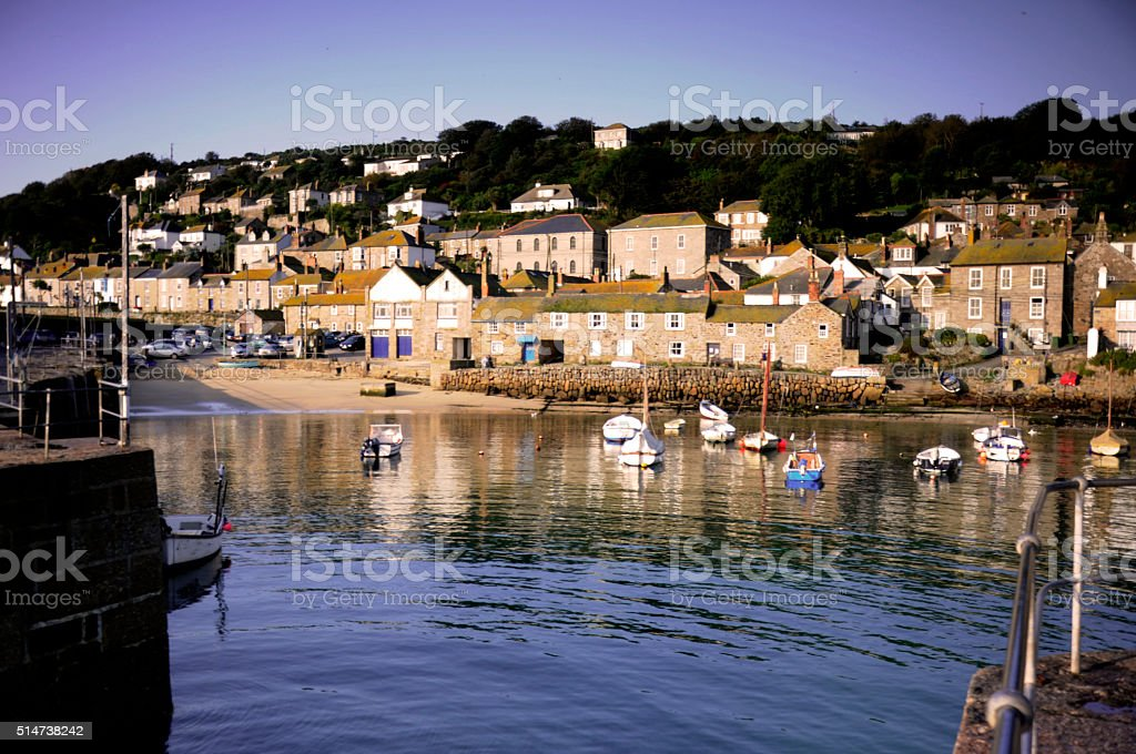 Mousehole in the Morning stock photo
