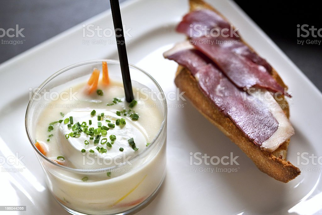 Mousse and ham royalty-free stock photo