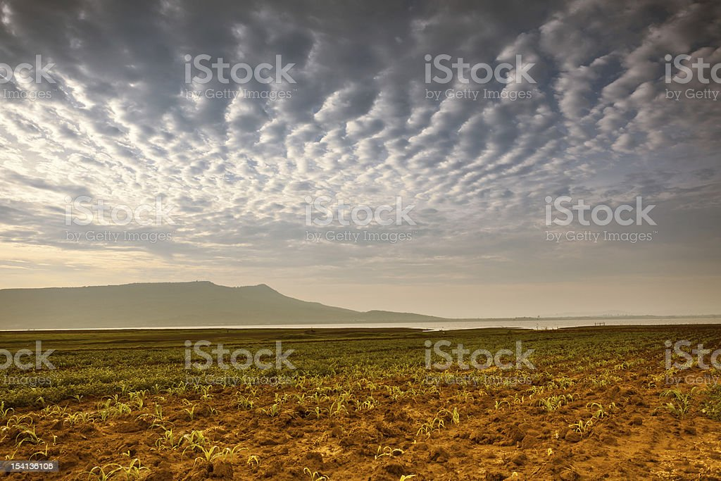 Moutain and cloudscape royalty-free stock photo