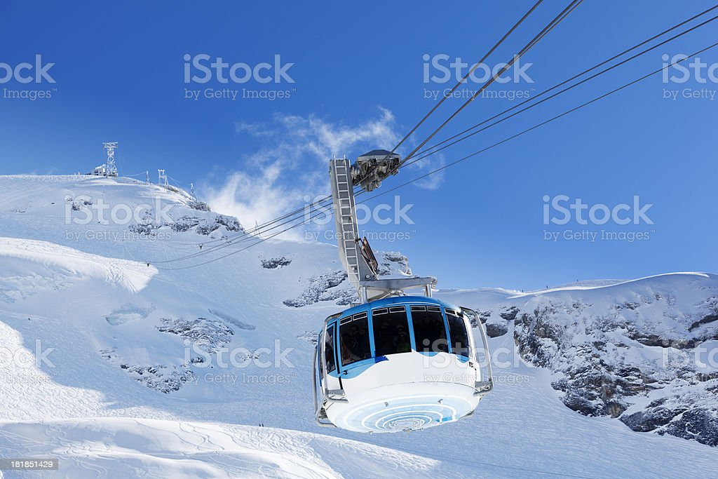 moutain cable car stock photo