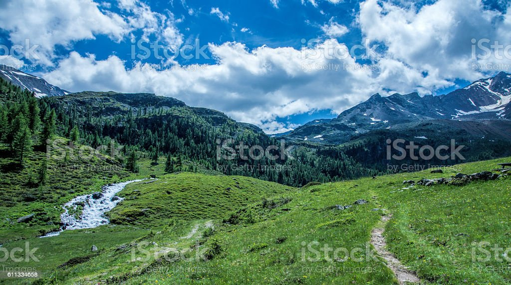 Moutain in South-Tirol stock photo
